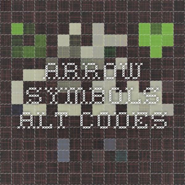 Arrow Symbols Alt Codes