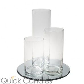 OPTION FOR WARM LIGHTS AND CENTER PIECES  Eastland Round Mirror and Cylinder Vase Centerpiece Set of 36 …
