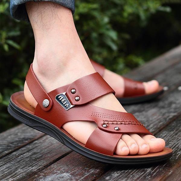 Mens Casual Beach Sandals Non slip Soft Sole Sandals