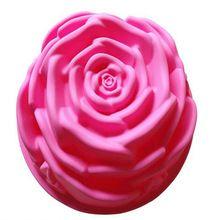 1 Pcs 24*8.5 CM Grande Rose Forma Molde Do Bolo Do Silicone Moldes De Pão de Pastelaria Moldes Bolo Ferramentas de Cozimento(China (Mainland))