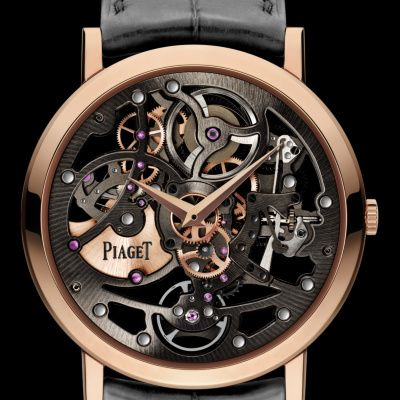 Rose Gold Ultra-Thin Skeleton Watch G0A38132 - Piaget Luxury Watch Online