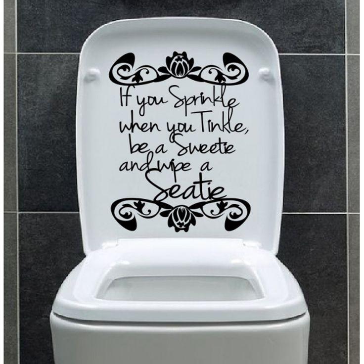 Creative Art Bathroom Wall sticker Home Decor Toilet Decal DIY Removable Vinyl stickers JG1834