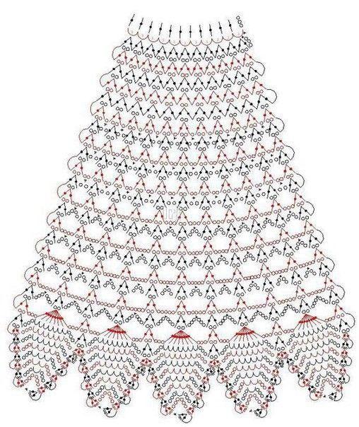 Подборка схем с расширением для вязания юбок крючком (УЗОРЫ КРЮЧКОМ) | Журнал Вдохновение Рукодельницы