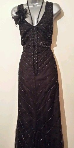 Stunning 1920's Gatsby Deco Vtg Style Beaded Flapper Dress UK Size 18 EU 46 | eBay