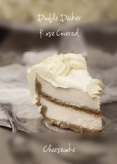 Double Layer Cheesecake  From @Amanda Rettke: Desserts, Decker Cheesecake, Sweet Treats, Layered Cheesecake, Covers Cheesecake, Cheesecake Recipe, Double Layered, Double Decker, Chee Cakes