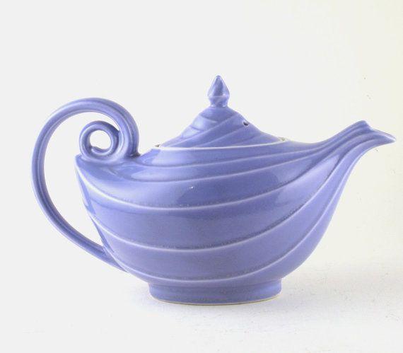 Vintage teapot hall teapot hall aladdin teapot blue teapot - Aladdin teapot ...