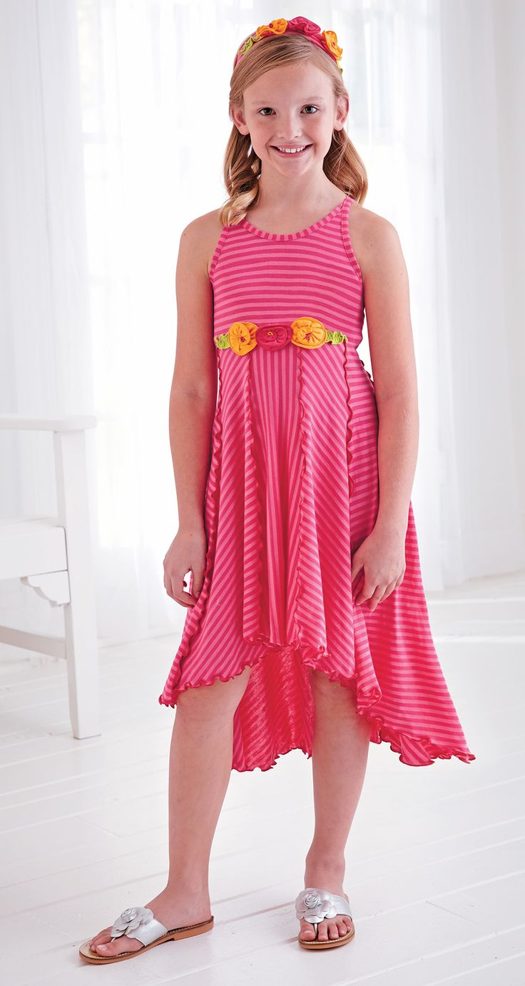 From CWDkids: Stripe High-Low Dress & Headband.