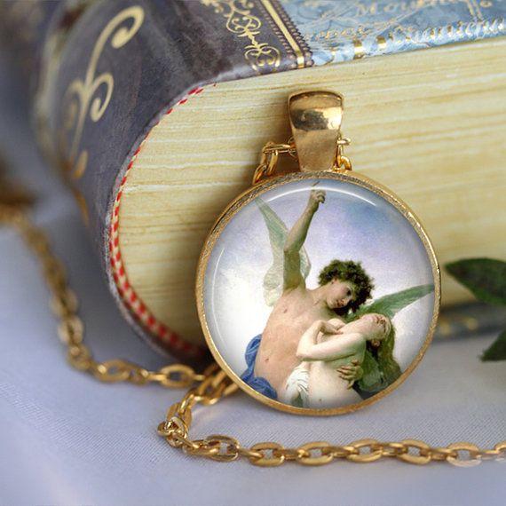 ANGELS Pendant Necklace Beauty Angels Modern by LiteraryArtPrints