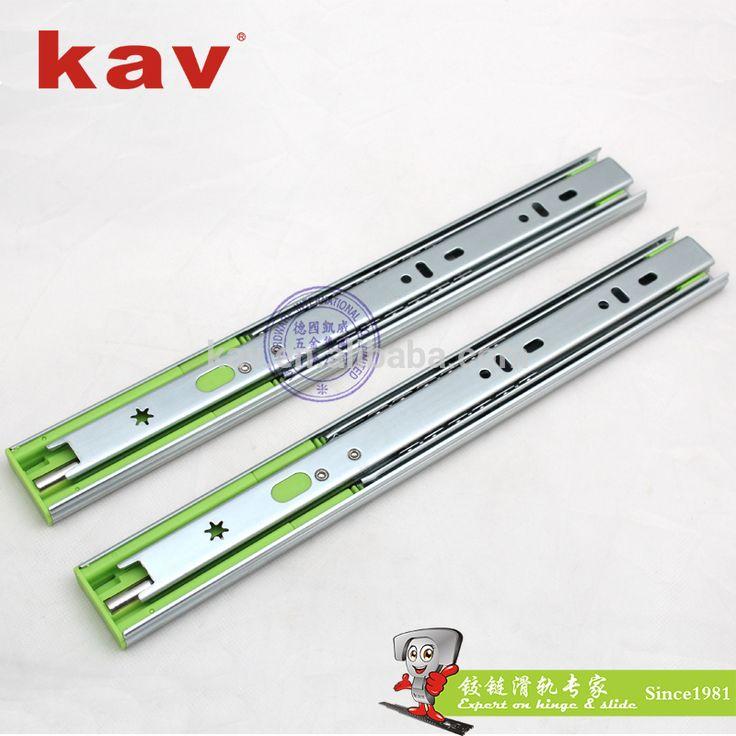 kav factory furniture cabinets drawer 35mm width soft close 3 folds ball bearing slide drawer runner (350H)
