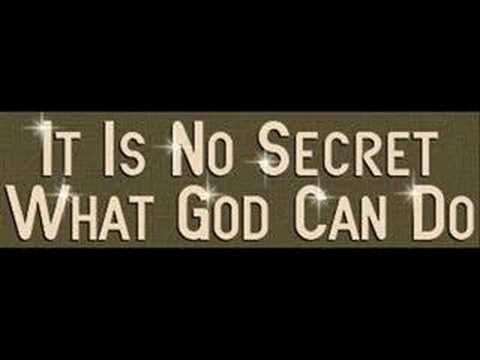 Jim Reeves - It is No Secret (What God Can Do)     wem