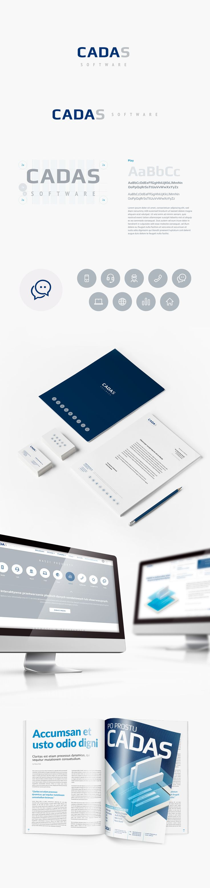 corporate identity for Cadas Software (Poland)