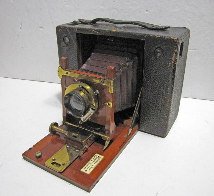 Antique Eastman Kodak No. 4 Cartridge Camera Early E Edition Red Bellows Film #Kodak