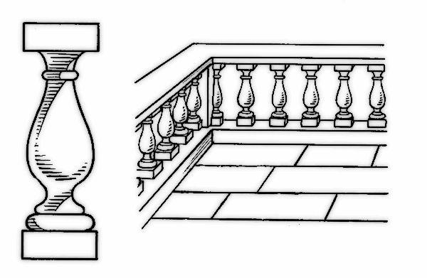 baluster and balustrade