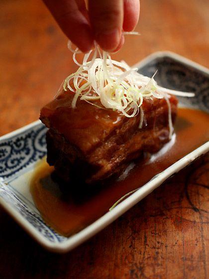豚の角煮(とろとろ煮汁Ver.)白髪葱