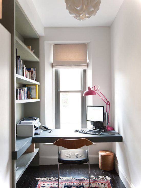 contemporary and cozy small home office