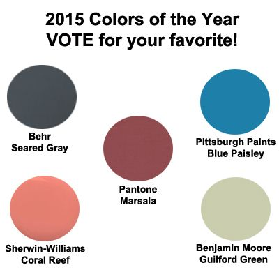 20 best images about 2015 Colors of the Year on Pinterest ...