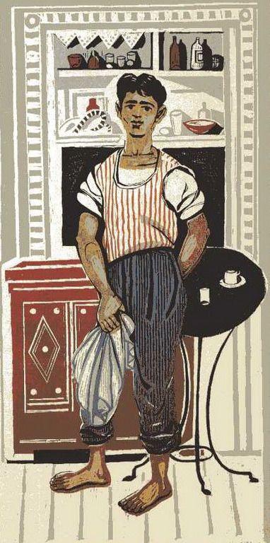 Tavern boy 1957 by Tassos (Anastasios Alevizos) --Τάσσος (Αναστάσιος Αλεβίζος)-Το παιδί της ταβέρνας, 1957