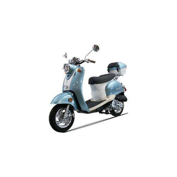 50cc 4 Stroke Znen Moped Euro Gas Motor Scooters :: Moped Scooters -... ❤ liked on Polyvore
