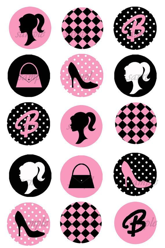 A sample of some Barbie wrappers I'm getting made for Ella's Cupcakes :)