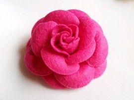 Haaraccessoire: Vilten roos roze
