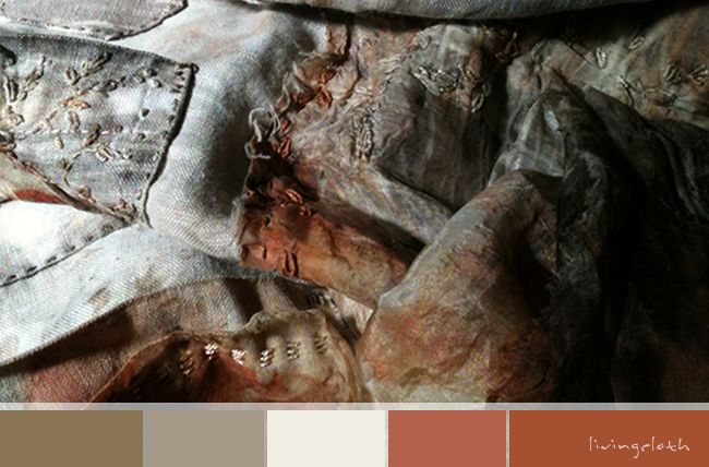 colour palette using my hand dyed apron for inspiration - livingcloth.com