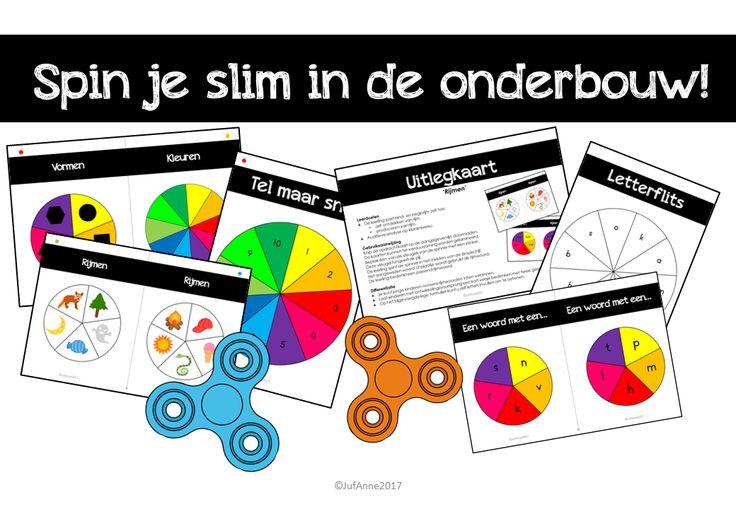 Spin je slim in de onderbouw! | Opdrachtkaarten Spinners | Gratis Download