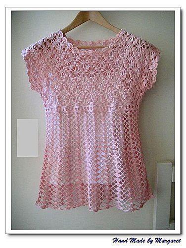 topper...Crochet Lace Tops, Crochet Top Pattern, 376 500 Pixel, Crochet Women Tops Sweaters, Crochet Womens Tops Patterns, Crochet Tops, Crochet Lace Patterns, 376 500 Píxele, Crochet Clothing