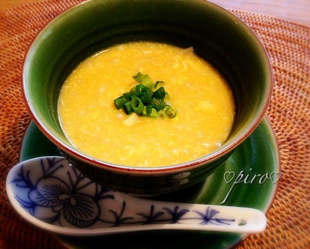 キャンベルスープのコーン缶で中華スープを作りました。 えのき茸、卵、オイスターソースが入っています - 55件のもぐもぐ - キャンベルスープ コーン缶で中華スープ Chinese corn soup cans of Campbell's Soup by 0987hiropon