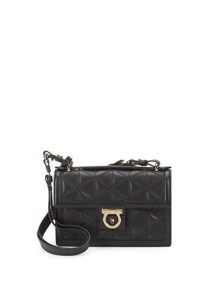 Aileen Textured Leather Shoulder Bag by Salvatore Ferragamo at Gilt ... 0dc8ee74938f6