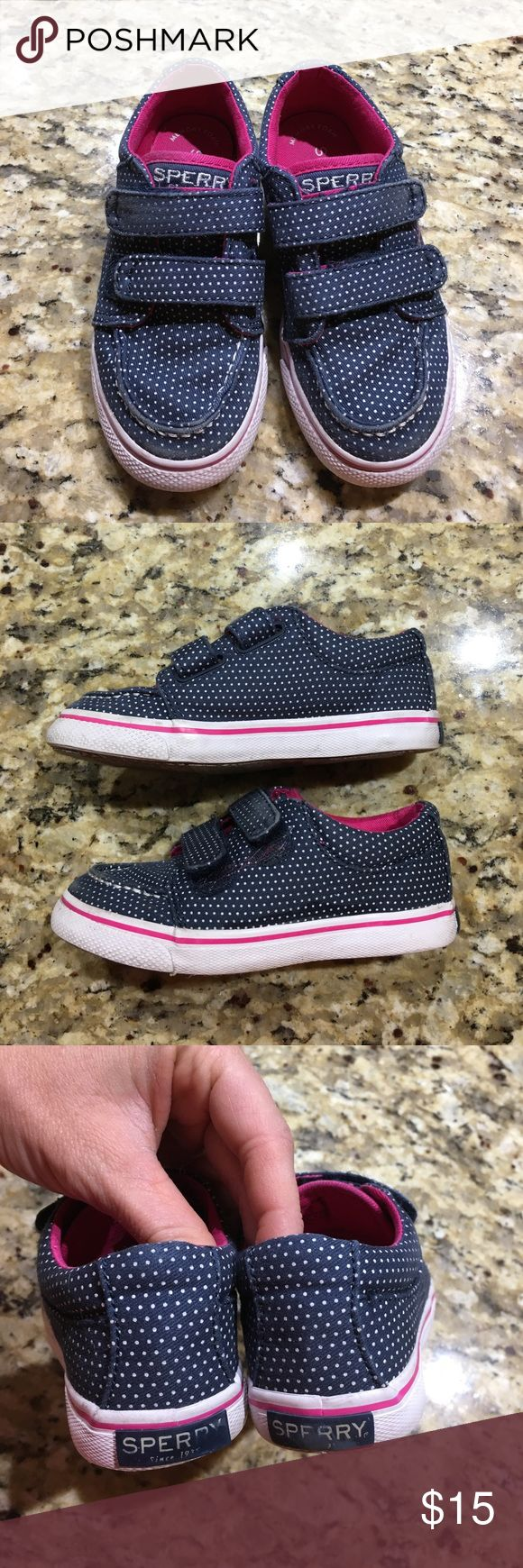 Toddler Sperrys 💕 Size 9 WIDE :) Good condition! Some wear on the tips and on the straps. Only worn a handful of times :) Sperry Top-Sider Shoes Sneakers