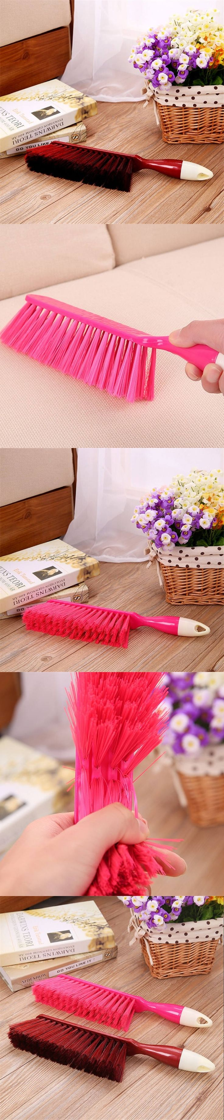 DoreenBeads Multiuse ABS Cleaning Brush 10*4.5*3.5cm with Handle Computer Sofa Bed Clothes Desk Household Dust Removal Tool 1PC
