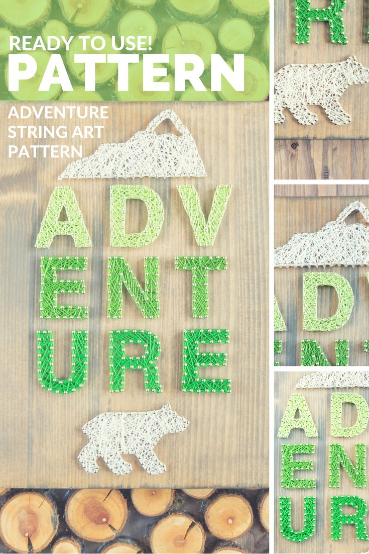 Check out this amazing and easy to use adventure string art pattern!