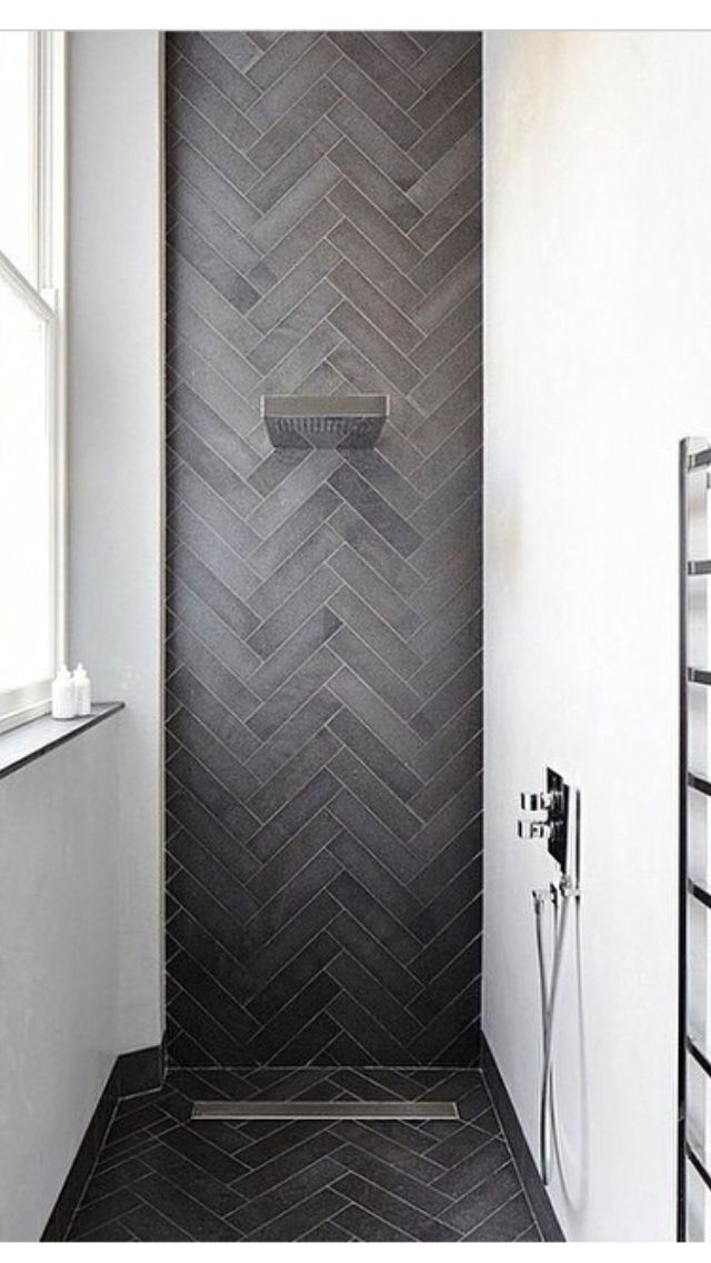 Love the herringbone tiles and color for floor. find in hexagon? or use and work into design ...