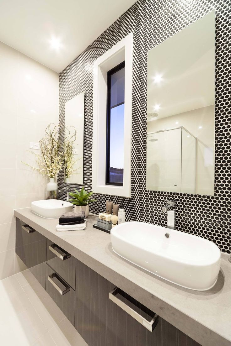 Ensuite Banksia Penny Tile With White Grout