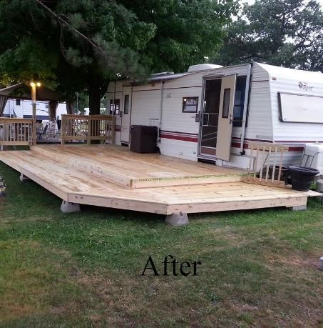 Build A Deck For Camper Bing Images Camping