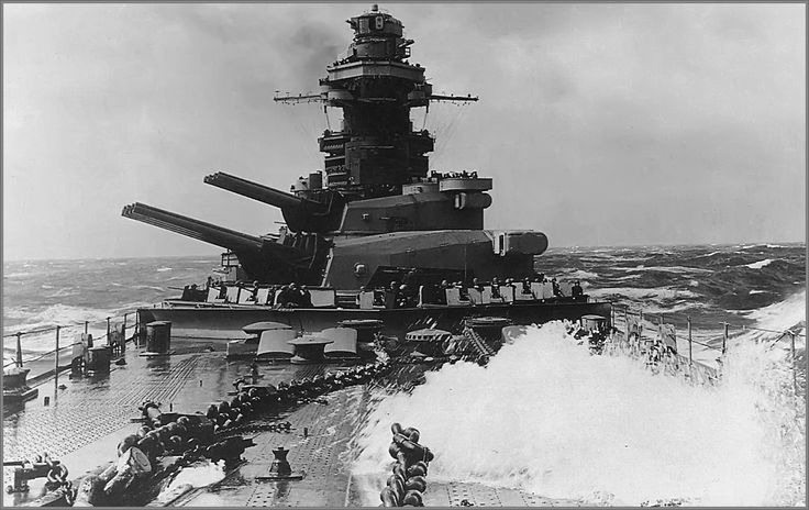 French battleship Richelieu in 1944.