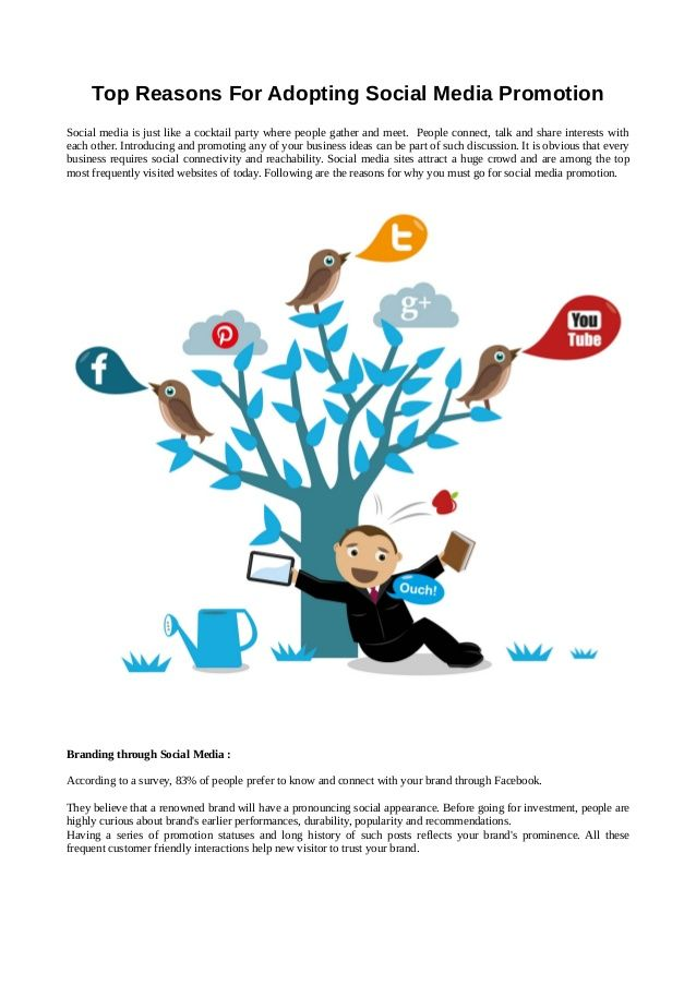 Top reasons for adopting social media promotion  by web crayons by Web Crayons via slideshare