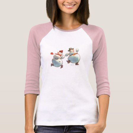 Snowmen Dancing T-Shirt - tap, personalize, buy right now!