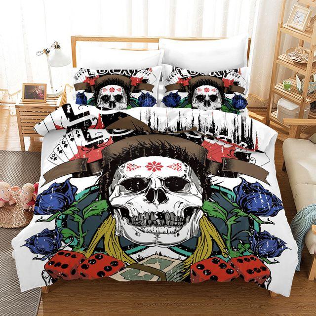 Sugar Skull Bedding Sets South Africa With Free Shipping Worldwide Skull Bedding Skull Bedding Sets Skull Duvet