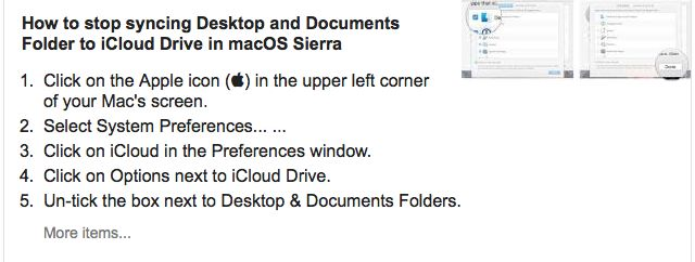 How to Stop Syncing Desktop and Documents Folder to iCloud Drive in macOS Sierra