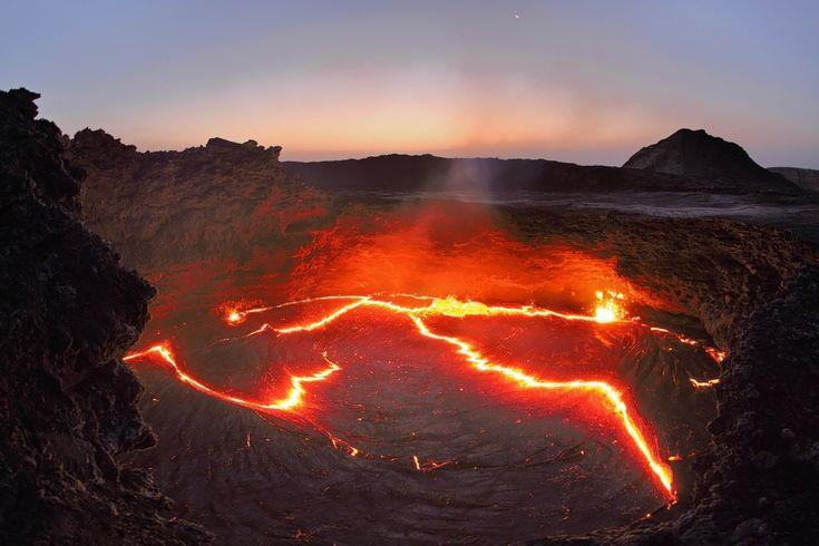 Trekking Up a Live Volcano in Ethiopia   Trekking, Travel ...