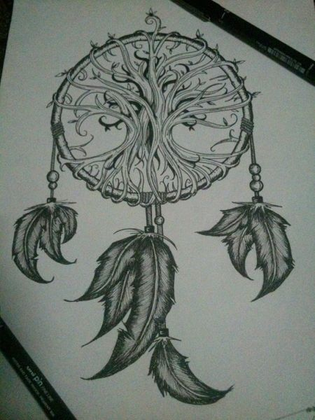 Tree Of Life Dreamcatcher Tattoo Another Angle) | Tattoos | Pinterest | Dream Catchers, Catcher And