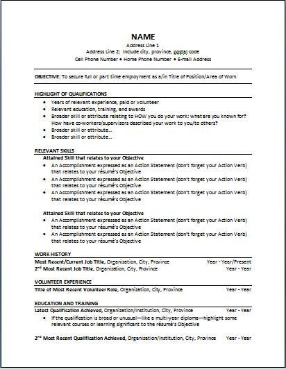 what is functional resumes