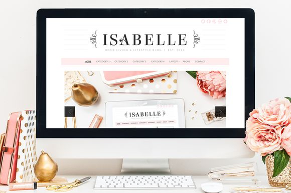 Isabelle WordPress Theme by Bluchic on Creative Market