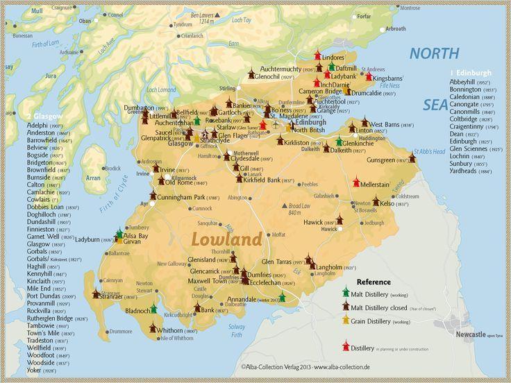 Lowlands - Distillery Map