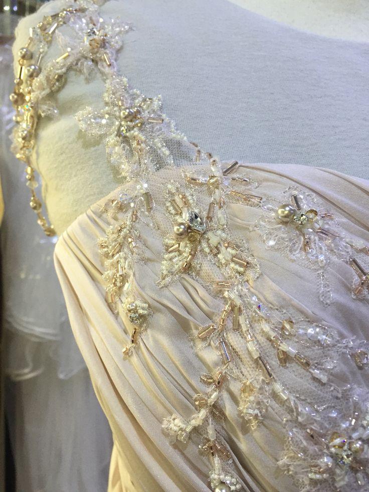 Beauty in the making ❤️ www.devarga.com.au  #wedding #weddingfashion #weddinggown #weddingdress #inspiration #weddinginspiration #bespoke #couture #elizabethdevarga #handmade #unique #Australia #australianwedding #AustralianDesigner #AustralianMade #Swarovski #magic