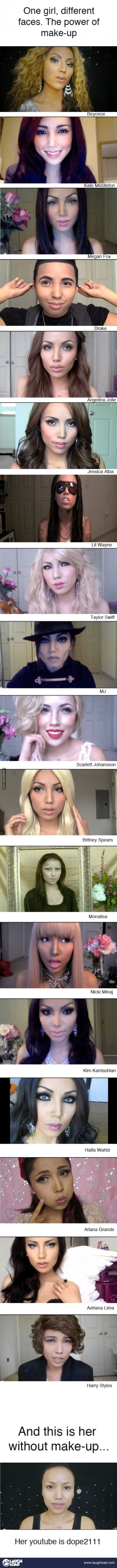 The power of make up. Oh my gosh!
