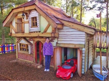 7 best images about cool kids outside houses on pinterest for Cheap playhouse kits