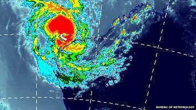 #CyclonePam #Vanuatu A red alert has been issued for northern parts of the South Pacific nation of Vanuatu as Cyclone Pam, a category five tropical storm, nears. Pam is already bringing winds of up to 185 km/h (115mph), said the Vanuatu Meteorological Services (VMS). VMS forecast winds of up to 230km/h (142mph) as the cyclone ploughs along off the east coast on Friday. Meanwhile category three Cyclone Olwyn has hit the coast of Western Australia,