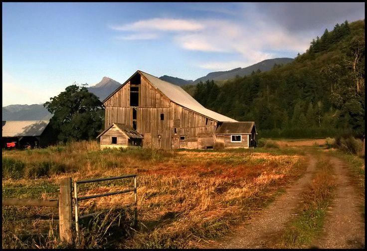 abandoned farm in Fraser Valley by John Cherrington